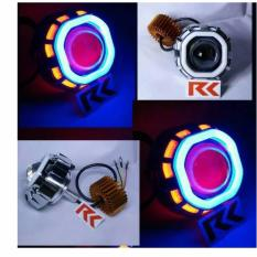 Jual Beli Lampu Led Projector U8 Double Ae De Projie Led Dan Ae Cob Led Cree Motor Angel Eye Dan Devil Eye Jawa Barat
