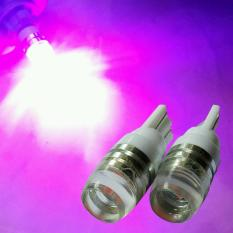 2 Biji Lampu Led Motor Mobil T10 5730 2 titik Senja Sein Proyektor Concave Arsystore ARSY - Pink