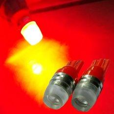 2 Biji Lampu Led Motor Mobil T10 5730 2 titik Senja Sein Proyektor Concave Arsystore ARSY - Merah
