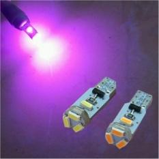 2 Biji Lampu Led Motor Mobil T5 3014 5 titik Metal soket Speedo Panel Dashboard Arsystore ARSY - Pink