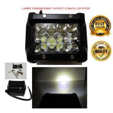 Model Lampu Tembak Led 12 Mata 36 Watt Motor Mobil Putih Terbaru