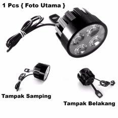 Lampu Tembak LED 4 Mata Sorot Putih Model Baut di Spion