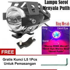 Lampu Tembak Led U7 Besar Sorot Putih Eagle Eyes Ring Merah Dan Devil Biru Bonus Kunci L 5 Untuk Pemasangan Indonesia Diskon 50