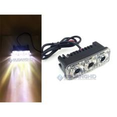 Lampu Tembak Sorot Cree 3 Mata RTD E03 12V-80V 6W White