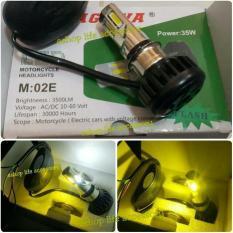 lampu utama depan motor led 6 sisi 2 warna putih kuning 35 watt Acdc