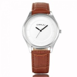 Beli Lan Yu The Newest Crrju Men S Business Full Automatic Mechanical Leather Watch Brown White Intl Online Tiongkok