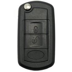 Land Rover Kunci Shell-Tanpa Kunci Masuk Jarak Jauh Lipat Lipat Kunci Fob Kasus 3 Tombol Penggantian dengan Uncut Pedang Blank untuk Land Rover Discovery LR3 Jarak Rover Olahraga-Internasional