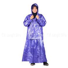 LangitBiru Jas Hujan Rok Polkadot Plevia ROK POP 870 Muslimah Perempuan Mantel