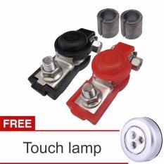 Lanjar jaya Terminal Accu Mobil dengan tutup penutup / Kepala Aki + Touch Lamp