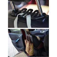 Lanjarjaya Triple Hook Car Back Seat Hanger Gantungan Barang Belakang Jok Mobil 3 pengait - Hitam