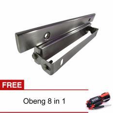 Promo Lanjarjaya Dudukan Braket Plat Nomor Mobil Model Jdm Kotak Bahan Stainless Adjustable Obeng 8In1 Lanjarjaya Terbaru