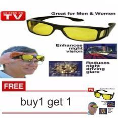 lanjarjaya Kaca Mata HD Vision ask vision ( 1 box isi 2 )Anti Silau Kacamata siang dan malam  buy1 get1