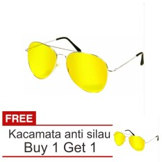 Lanjarjaya Kacamata Malam Anti Silau Night View Sunglasses + Buy 1 Get 1