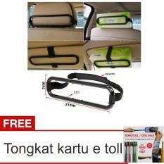 Lanjarjaya Smart Tissue Box Holder/Tempat Tissue Mobil Gantung - Hitam + Tongkat Kartu E Toll