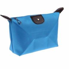Lanjarjaya Tas Kosmetik Mini Cosmetic Bag Pouch Purse Tempat Dompet Kosmetic - Biru
