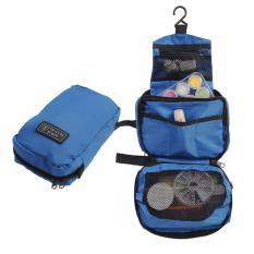 Lanjarjaya Travel Mate Toilet Organizer Bag (Tas Travelling) Tas Praktis - Biru