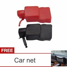 Lanjarjaya Tutup karet pelindung Kepala Terminal Aki Accu ukuran besar + Car Net
