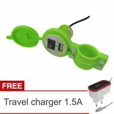 Jual Lanjarjaya Usb Charger Motor Waterproof Cas Hp Di Motor Travel Charger 1 5A Hijau Ori