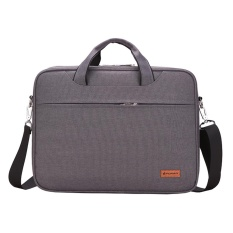 Laptop Briefcase Lengan Case Menutupi Messenger Casing untuk Macbook Air Pro Samsung Tab HP Acer ASUS Lenovo Dell Toshiba Universal 14 Inch Notebook Gray-Intl