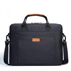LAPTOP Shoulder Bag, KALIDI 17.3 Inch Notebook Briefcase Messenger Bag untuk Dell Alienware/MacBook/Lenovo/HP, Traveling, Bisnis, Kuliah dan Kantor. -Intl