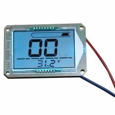Besar Layar LCD Display 12 V Baterai Asam Timbal Kapasitas Meter Indikator Voltase Baterai untuk Motor Keranjang Mobil Mobil- INTL