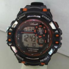 Lasebo digital - Jam Tangan Pria - Rubber Strap - LSB 1434 hitam