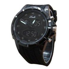 Harga Lasebo Dual Time Jam Tangan Pria Rubber Strap Lsb 6225 Fb Online