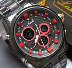 Lasebo - Jam Tangan Pria Stainless steel - LJR1851 Chain Black Red