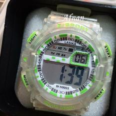 Ulasan Mengenai Lasika Jam Tangan Pria Wanita W H9003 Digital Water Resist 50 M Transparan Bahan Tali Rubber Model Sport