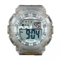 Lasika K-SPORT - Jam Tangan Laki Laki DIGITAL W-H9004-RZ Transparan