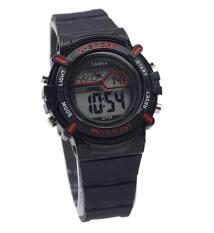 Lasika Rubber Strap G794 - Sporty Desaign - Black Red