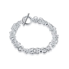 Terbaru Wanita Desain Klasik Gelang Berlapis Perak Penjualan Langsung Pabrik Gelang Fashion Gelang Charm Bracelet Cicret Gelang untuk Wanita- INTL