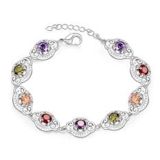Latest Women Classy Design silver plated bracelet Factory Direct Sale Bracelet fashion bracelet Charm Bracelet cicret bracelet for Women - intl