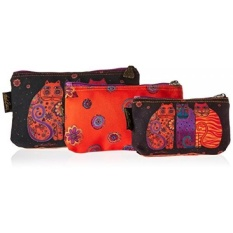 Laurel Burch Cosmetic Bag, Feline Friends, Set of 3