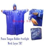 Spesifikasi Layar Jas Hujan Ponco Tangan Pvc Tebal Biru Yang Bagus