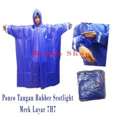 Beli Layar Jas Hujan Ponco Tangan Pvc Tebal Biru Murah Dki Jakarta
