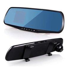 Lcd Rear View Mirror Car Dvr Kamera Perekam (hitam)-Intl By Yushu Store.