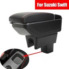 Kulit Konsol Tengah Mobil Sandaran Tangan Kotak Penyimpanan untuk Suzuki Swift 2008 ~ 2016 2017-Intl