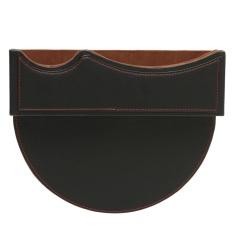 Leather Car Seat Gap Slit Pocket Penyimpanan Penangkap Suara Kadi Telepon Key Holder Bag Black Red Line-Intl