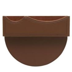 Leather Car Seat Gap Slit Pocket Penyimpanan Penangkap Suara Kadi Telepon Key Holder Tas Coklat-Internasional