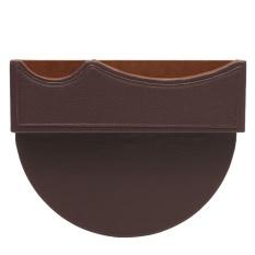 Leather Car Seat Gap Slit Pocket Penyimpanan Penangkap Suara Kadi Telepon Key Holder Bag Kopi-Intl