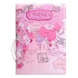 Ulasan Lengkap Tentang Peta Dunia Dari Kulit Pemegang Paspor Penyelenggara Kartu Perjalanan Case Sampul Dokumen Hot Pink