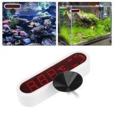 Jual Led Digital Aquarium Thermometer Fish Tank Water Temperature Gauge With Suction Cup Intl Oem Murah