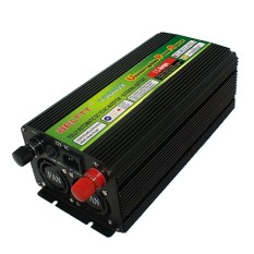 LED Tampilan 24 V Sampai 220 V 1500 W 3000 W (Puncak) UPS Daya Inverter untuk Tenaga Surya/Angin Hitam-Internasional