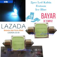 2bh LED  Kabin / Plafon Mobil Festoon COB 12 Led - Ice Blue