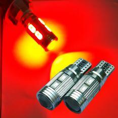 Review Pada 2 Biji Lampu Led Motor Mobil Senja Sein Sen Rem 10 Titik 5730 Canbus Lensa Proyektor Soket Metal T10 W5W Arsystore Arsy Merah