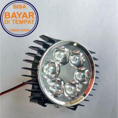 LED Lampu Sorot Tembak Luxeon 6 Mata Slim - Hitam