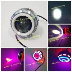 Led Projie besar RBR dobel AE DE lampu sorot tembak motor projector