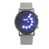 Harga Led Round Mirror Biru Lingkaran Stainless Steel Watch Silver Intl Not Specified Tiongkok