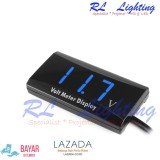 1Bh Led Voltmeter Digital Mobil Motor Waterproof Biru Asli